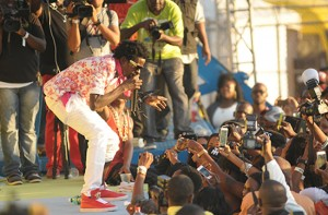 Gully Bop on the Sting stage