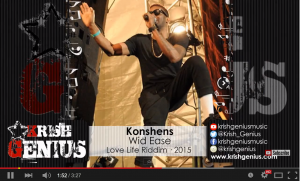 Brand new release by Konshens - Wid Ease [Love Life Riddim] April 2015