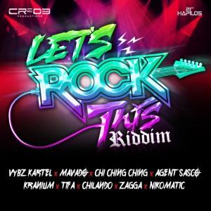 zj chrome's 'lets rock diddim feat mavado, vybz kartel, kranium, beenie man, sean paul, alkaline