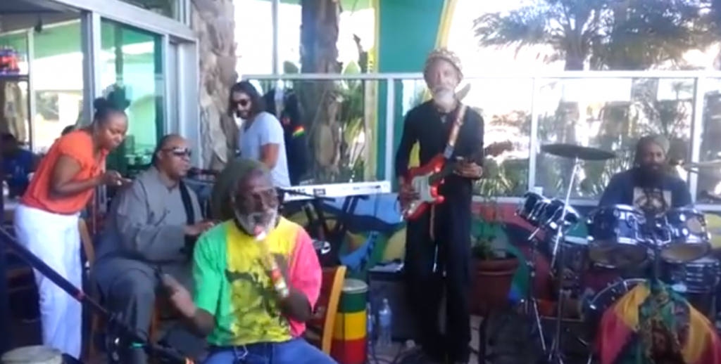 stevie wonders reggae vibes singing bob marley 'wait in vain'